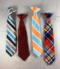 Boys Silver with Multi Purple Stripe Zipper Tie