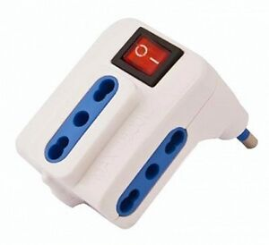 33500215 Space Power Strip Space-Saving A 3 Sockets with Switch