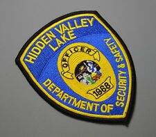 Hidden Valley Lake California Security & Safety Patch ++ Mint Lake County CA