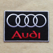 AUDI RACING CAR LOGO EMBROIDERY IRON ON PATCH BADGE