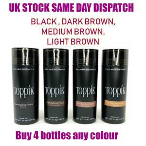 Toppik Hair Building Fibres 27.5 - Buy 4 Bottles Any Colour -Same Day shipping