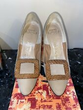 Vintage 50's Palter DeLiso Light Tan Suede Pumps Size 6 M - Never Worn In Box