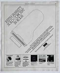 KEITH JARRETT 1975 vintage ADVERT KOLN CONCERT