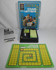 Chain Letters Bookcase Game Vintage 1970 Hasbro Word Letter Strategy Bookshelf