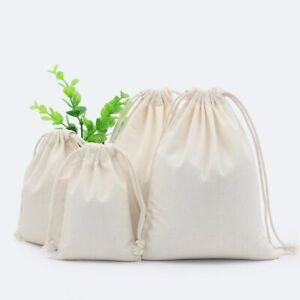 2PCS Cotton Fabric Dust Cloth Drawstring Storage Bag Clothes Shoes Toy Storage
