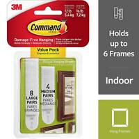 Command Medium and Large Picture Hanging Strips White 2094398