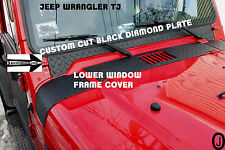 JEEP TJ WRANGLER custom cut  black DIAMOND PLATE WINDOW FRAME COVER
