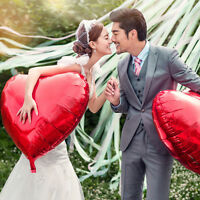 Hot Sale Solid Colors Heart Wedding Birthday Party Helium Foil Balloons 18 Inch