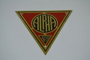 DL & Co Metal Product Tag Plate Alpha 1930s Art Deco Industrial Steampunk
