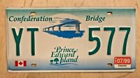 "1999 PRINCE EDWARD ISLAND PEI  CANADA  LICENSE PLATE "" YT  577 "" CONFEDERATION"