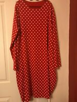 20,22,24 X1964X Red polka dot stretch jersey pockets quirky retro bubble dress