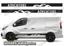 Fiat Talento sides 046 camper van racing stripes graphics ADVENTURE stickers