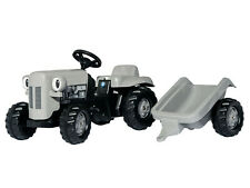 Rolly Kids Little Grey Fergie & Trailer Ride On Tractor X993070612000 New