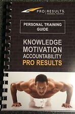Pro Results Personal Training Guide Workout Journal
