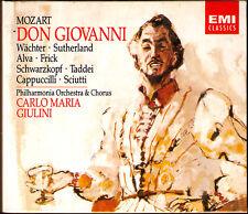 Mozart: Don Giovanni Eberhard guardiani Sutherland schwazkopf Taddei Giulini 3cd