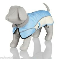 Trixie Dog Coat Winter Avallon Ripstop Nylon & Teflon Coated Light Blue