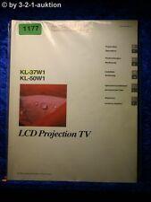 Sony manuel d'utilisation KL 37w1/50w1 LCD projection tv (#1177)