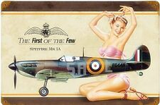 Spitfire First Of The Few PinUp rusted steel sign 450mm x 300mm (pst)