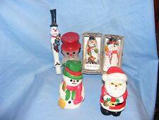 Christmas Candles Figural Santa And Snowmen Decorations