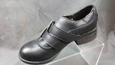 "Rocket Dog Black Grain Leather Double Strap Oxford Heels 1.76"" Women's 8M"