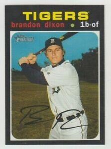 (9) Brandon Dixon 2020 TOPPS HERITAGE BASE CARD LOT #122 DETROIT TIGERS