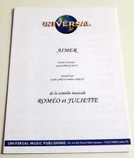 Partition moderne sheet music CECILIA CARA / DAMIEN SARGUE Aimer ROMEO JULIETTE