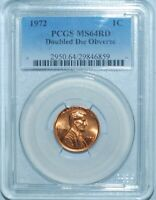 1972 PCGS MS64RD Red FS-101 DDO Double Doubled Die Obverse Lincoln Cent