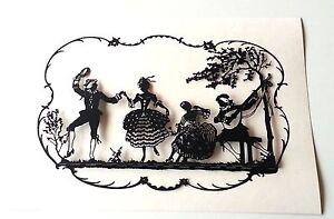 Paper cut cutting CNC 3D copy Scherenschnitte silhouette craft folk art. S002