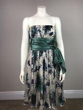 BCBG Max Azria Silk Vapor Comb Women's  6 Strapless Empire Waist Floral Dress