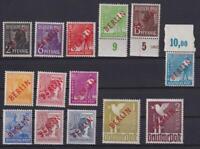Berlin 21-34 Rotaufdruck postfrisch meist geprüft Schlegel (et117)