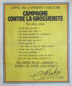 CHARLIE HEBDO N° 527 de DÉC. 1980 APPEL CANDIDAT COLUCHE CAMPAGNE GROSSIÈRETÉ