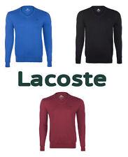 Unifarbene Lacoste Herren-Pullover aus Baumwolle
