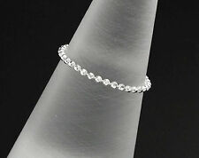 925 Sterling Silver Diamond Cut Ball Chain Ring. Size 8 US