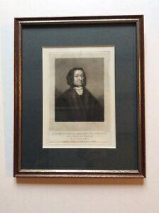 Framed engraving ELIZABETH STEWARD Mother of OLIVER CROMWELL - Turner 1810