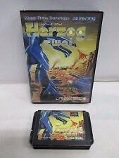 Mega-Drive Genesis -- Herzog Zwei -- JAPAN Game Sega. Clean & Work fully!! 11443
