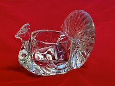 Vintage Avon Shimmering Peacock Glass Votive Candle Holder Collector 1979 Euc