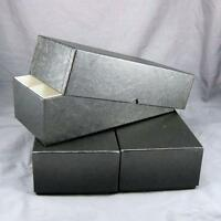 NEW Black 2 Cardboard Coin Storage Boxes For Mint Sets 10-7//8 X 6 X 3-11//16