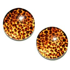 Adorable Tiny LEOPARD Pierced Earrings Made in USA Surgical Stainless Steel K5E