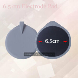 6.5cm Electrode Pad Reusable Rubber Pad Replacement For Microcurrent SPA Machine