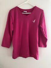 Susan G Komen Pink 3/4 sleeves top V-neck Large