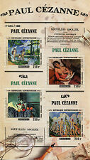 Central African Republic 2015 MNH Paul Cezanne 4v M/S Paintings Bathers Hortense