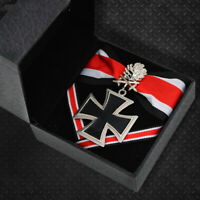 WWII German iron cross medal badge double knight oak leaves and ribbon With Box