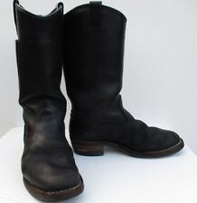 WESCO Morrison Black Leather Pull-On Motorcycle Patrol Engineer Boot +Pockets 10