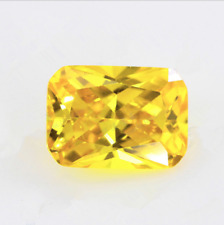 Golden Yellow Sapphire 10x12MM 9.45Ct Emerald Cut AAAAA VVS Loose Gemstone