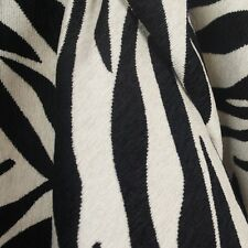 Black White Zebra Tiger Upholstery Fabric