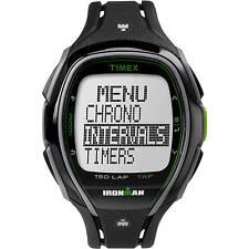 Timex Unisex Ironman Sleek 150 Tapscreen Full-Size Watch, Black Resin Strap