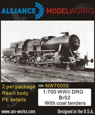 Alliance Model Works 1:700 WWII German DRG Br52 with Coal Tenders 2pcs #NW70055