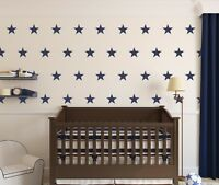 NAVY BLUE STARS Wall Stickers Kit Art decal graphic nursery cute 2 sizes options