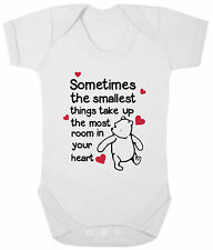WINNIE THE POOH Bodysuit/Grow/Vest/Romper, Baby Shower Newborn Gift Tigger Heart