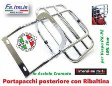 9189 - Portapacchi Posteriore con Ribaltina CROMATO per LML Star 125/150 2T